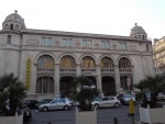 façade Poste Colbert. rue henri barbsse vue générale.