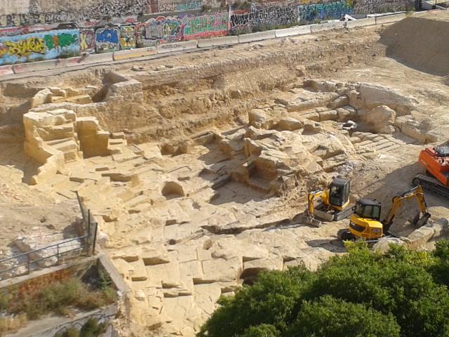 Vue générale du site archeo